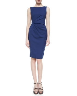 Side-Ruched Twill Dress by Armani Collezioni in Supergirl