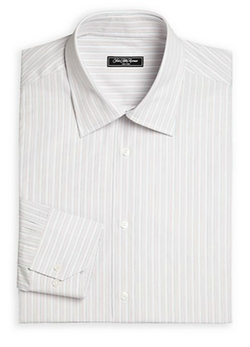 Bridge Striped Cotton Dress Shirt by Saks Fifth Avenue Collection in The Blacklist
