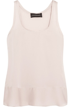 Ibonna Stretch-Silk Satin Tank Top by By Malene Birger in The Vampire Diaries
