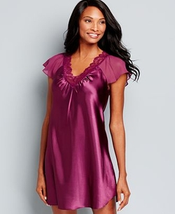 Ruffle Satin Sleepshirt by Morgan Taylor in The Mindy Project