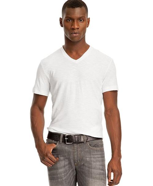 Core Garment Dyed Slub V-Neck T-Shirt by Kenneth Cole Reaction in Wish I Was Here