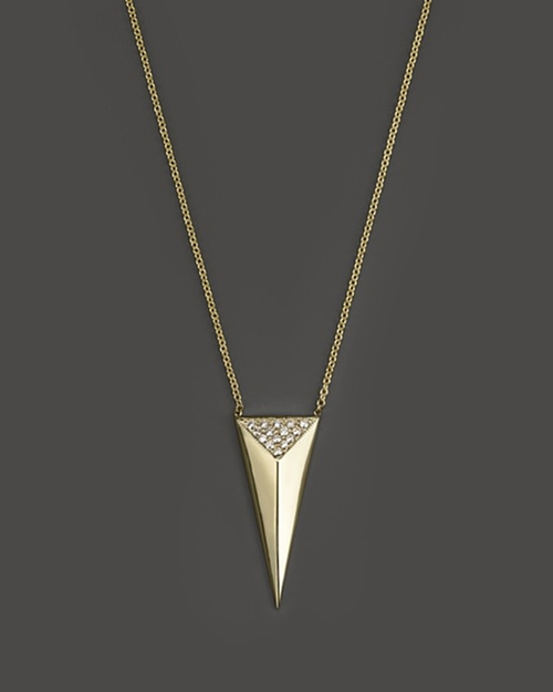 Triangle Pyramid Necklace by Zoë Chicco in Ballers - Season 1 Episode 7