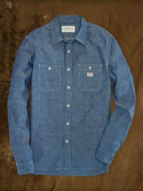 Selvedge Chambray Workshirt by Denim & Supply in Contraband