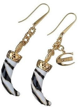 Black & White Horn Earrings by Just Cavalli in Confessions of a Shopaholic