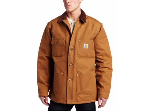 Men's Duck Chore Coat Blanket Lined Jacket by Carhartt in All Eyez on Me