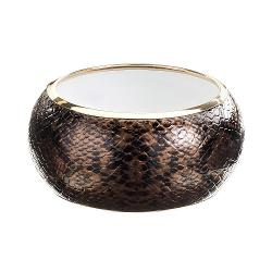 Gold Tone Snakeskin Bangle Bracelet by GS by gemma simone in Yves Saint Laurent