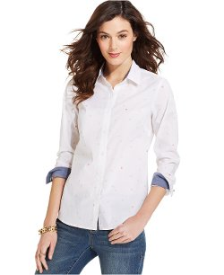 Wheel-Print Button-Down Shirt by Tommy Hilfiger in While We're Young