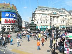 London, United Kingdom by Piccadilly Circus in Kingsman: The Secret Service
