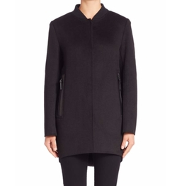 Leather-Trimmed Button-Down Coat by Derek Lam 10 Crosby in The Blacklist