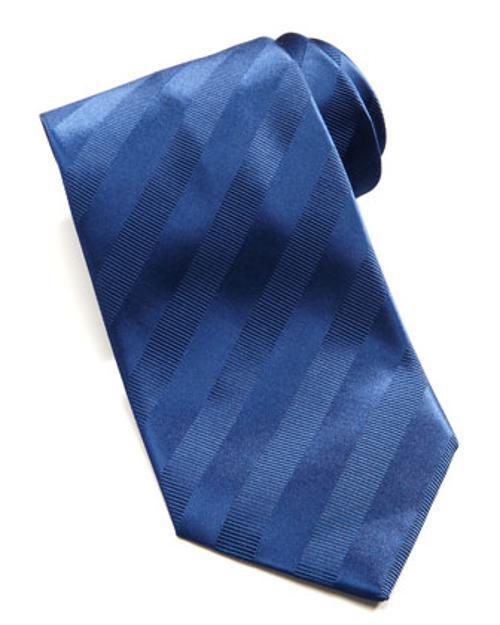 Tonal Stripe Silk Tie, Navy by Brioni in Million Dollar Arm