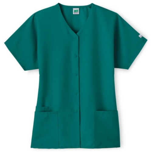 Women's Snap-Front Scrub Top by Fundamentals in If I Stay