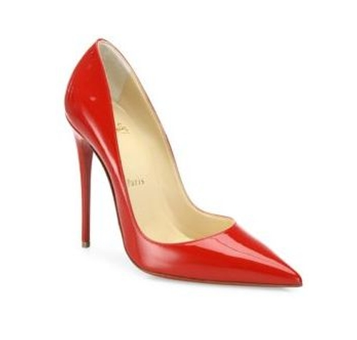So Kate Patent Leather Point-Toe Pumps by Christian Louboutin in Miss Sloane