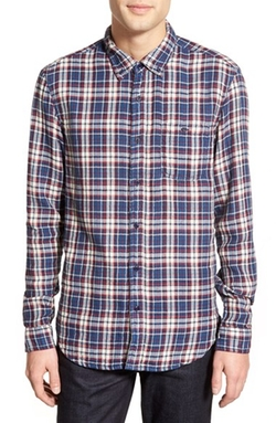 'Abel' Trim Fit Long Sleeve Plaid Sport Shirt by Velvet by Graham & Spencer in Modern Family