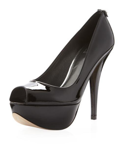 Diplille Peep-Toe Platform Pump by Stuart Weitzman in The Other Woman