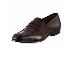 Leather Penny Loafers by Bally in American Made