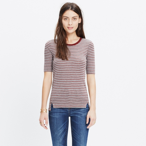 Soundcheck Ringer Stripe Tee by Madewell in Scream Queens - Season 2 Episode 1