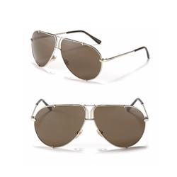 Y Nose Bridge Aviator Sunglasses by Yves Saint Laurent in Empire