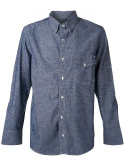 Long Sleeves Chambray Shirt by Rag & Bone in Blackhat