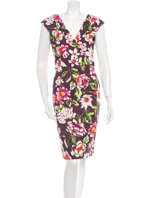 Watercolor Floral Print Dress by Oscar De La Renta in Crazy, Stupid, Love.