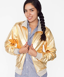 Gold Lame Jacket by Custom in Pitch Perfect 2