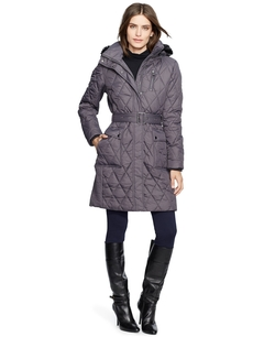 Quilted Belted Down Puffer Coat by Lauren Ralph Lauren in Brooklyn Nine-Nine