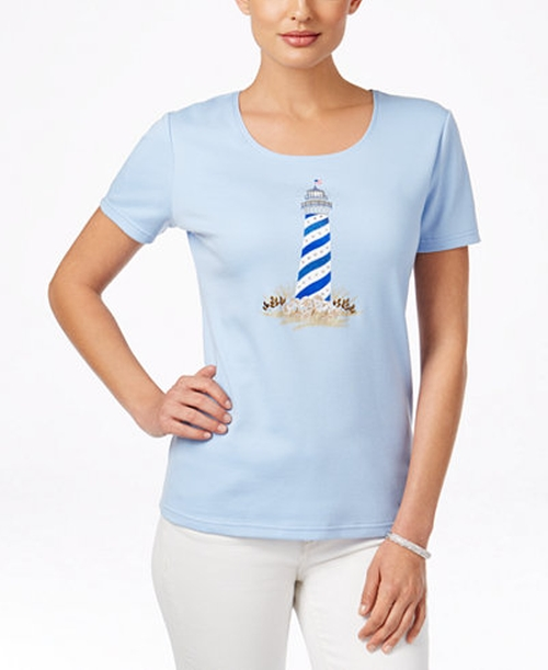 Lighthouse Graphic T-Shirt by Karen Scott in Lady Dynamite -  Preview