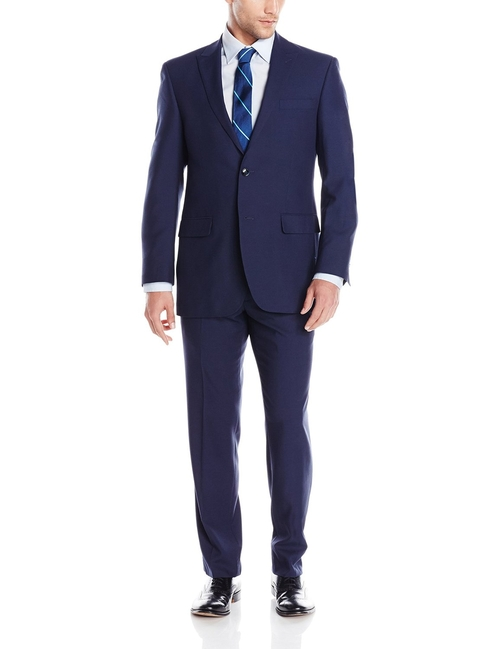 Two Button Peak Lapel Suit by Perry Ellis in Central Intelligence