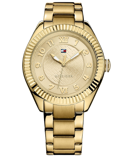 Gold-Tone Stainless Steel Bracelet Watch by Tommy Hilfiger in Sex and the City 2