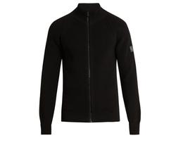 Parkgate Zip-Through Cotton Sweater by Belstaff in Billions