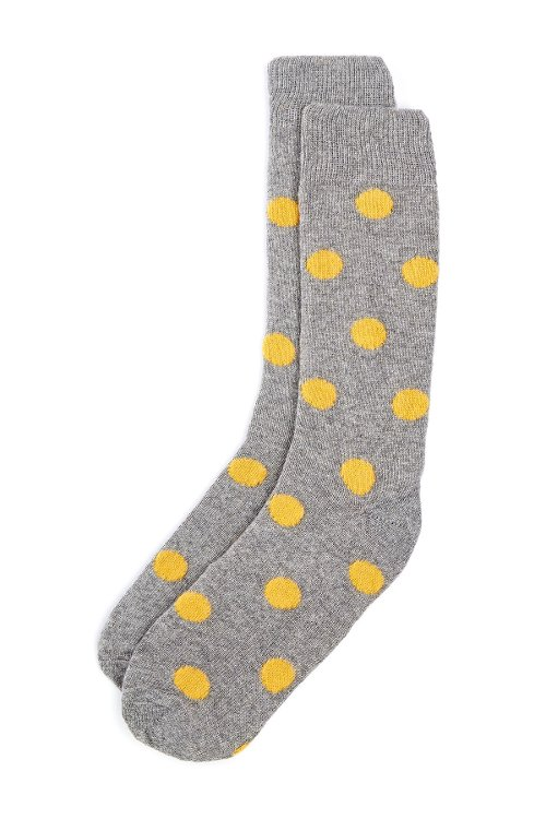 Polka Dot Cashmere Socks by Punto in Entourage