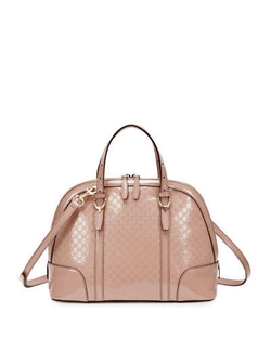 Microguccissima Patent Leather Dome Satchel Bag by Gucci in Suits