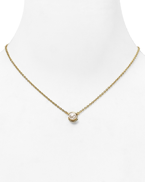 Faux Pearl Pendant Necklace by Kate Spade New York in Pretty Little Liars - Season 6 Episode 8