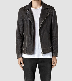 Conroy Leather Biker Jacket by AllSaints in Shadowhunters