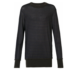 Cashmere Stripe Sweater by Ziggy Chen in Molly's Game