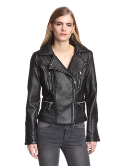 Faux Leather Moto Jacket by Vince Camuto in Jem and the Holograms