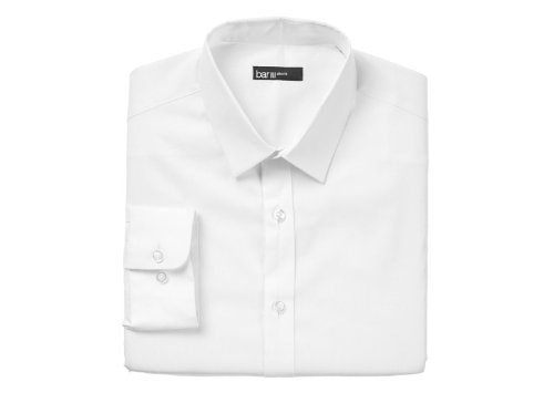 Slim-Fit Solid Dress Shirt by Bar III in The Matrix