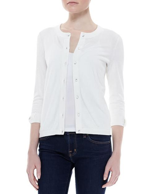 Somerset Button-down Cardigan, by Kate Spade New York	 in New Year's Eve