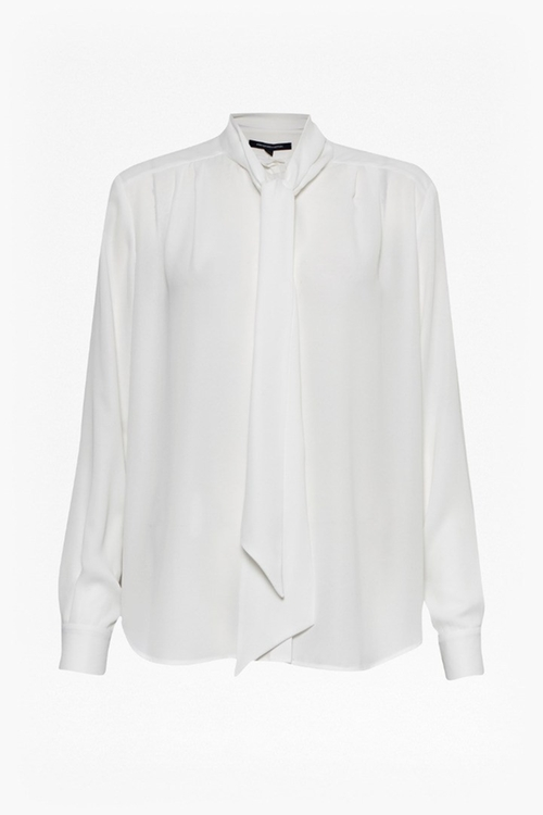 Selena Pussy Bow Blouse by French Connection in Elementary - Season 4 Episode 14