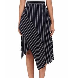 Striped Poplin Skirt by N Nicholas in Quantico