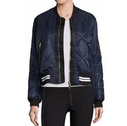Vine Zip-Front Quilted Bomber Jacket by Rag & Bone in Scream Queens