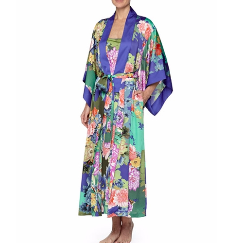 Tahiti Floral-Print Wrap Robe by Natori in The Boss