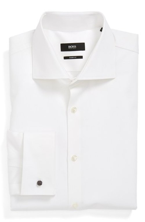 Sharp Fit French Cuff Dress Shirt by Boss Hugo Boss in Shutter Island