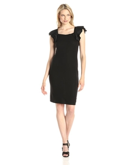 Women's Cristin Flutter-Sleeve Sheath Dress by BCBGMAXAZRIA in Scream Queens