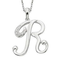 Sterling Silver Diamond Accent Initial Pendant by Kohl's in Mean Girls