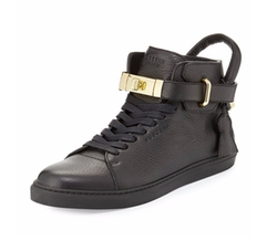 High-Top Leather Sneakers by Buscemi in Empire