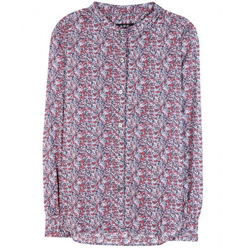 Printed Cotton Shirt by A.P.C. in Wild