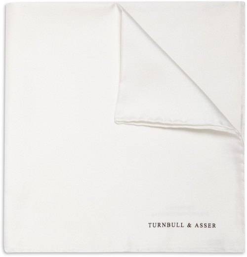 Silk Pocket Square by Turnbull & Asser in Legend