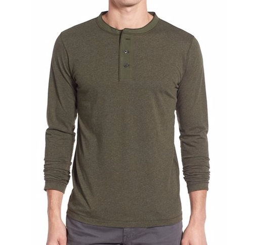 'Sanders' Henley Shirt by Billy Reid in New Girl - Season 6 Episode 3