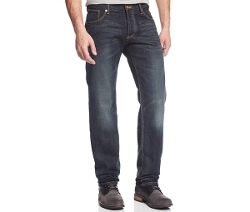 Mid-Rise Slim Straight Dark Wash Jeans by Armani Jeans in Boyhood