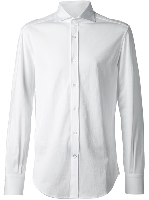 Spread Collar Shirt by Brunello Cucinelli in Steve Jobs